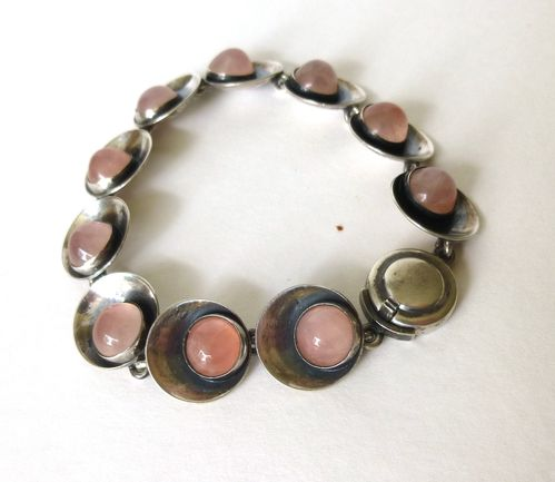 N.E.From Sterling rose quartz bracelet