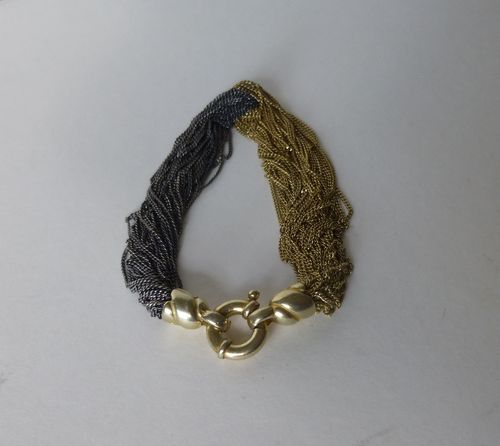 Aagaard  Sterling silver and gold multistrand bracelet