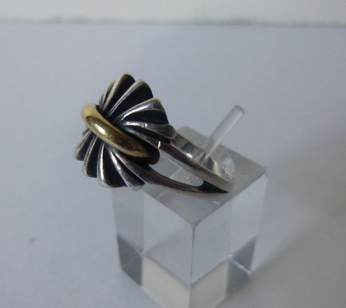 Georg Jensen ring 394 with gold, size P