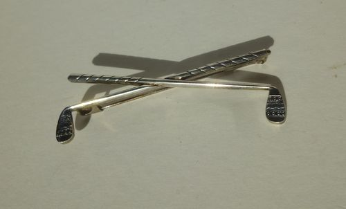 Anton Michelsen Sterling golf clubs brooch