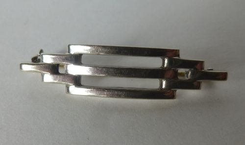 Henry Andersen Sterling silver functionalist bar brooch