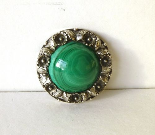 N.E.From Sterling malachite brooch