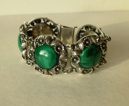 N.E.From Sterling malachite bracelet