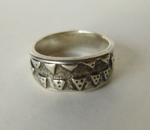 Kopi Viking Sterling silver ring, size N