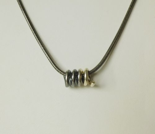 Scrouples Sterling silver necklace with silver coil