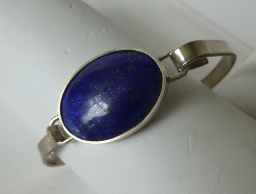 Svein Solberg Sterling silver lapis bangle