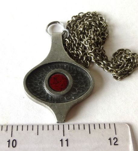 Troels Tin pewter pendant + chain