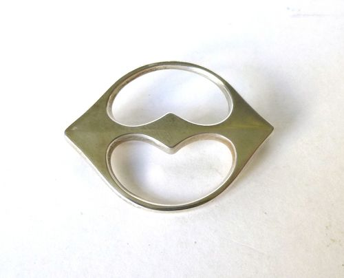 Hans Hansen,  Sterling silver brooch no.110