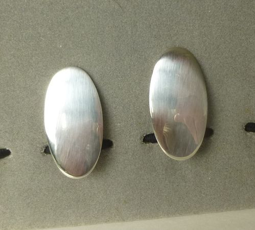 N.E.From Sterling silver oval ear clips