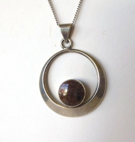 N.E.From Sterling silver jasper pendant