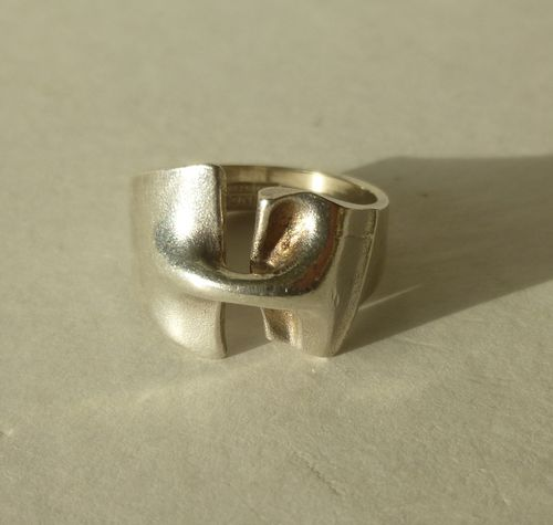 Lapponia Sterling silver ring, 'Styks', R