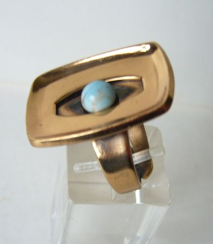 Alton Palmberg bronze turquoise ring
