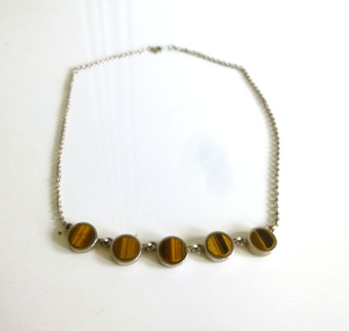 Arne Johansen silver tiger eye necklace