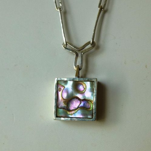 Bisgaard Sterling abalone necklace