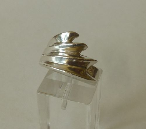 Siersbøl Sterling silver modernist ring, size P