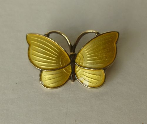 Jemax tiny yellow enamel butterfly brooch