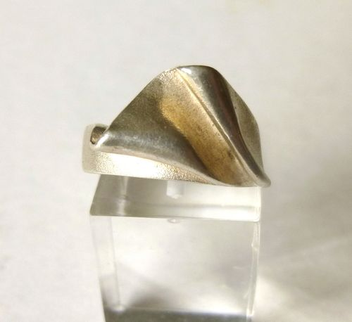 Bent Larsen crumpled silver ring M, 6.5 52,