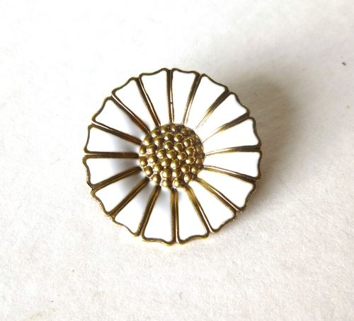 Georg Jensen small enamel daisy brooch