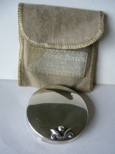 Georg Jensen / Blackinton silver powder compact